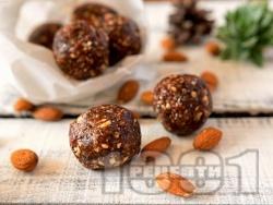 Здравословни, лесни и бързи бонбони топчета с фурми и бадеми - снимка на рецептата